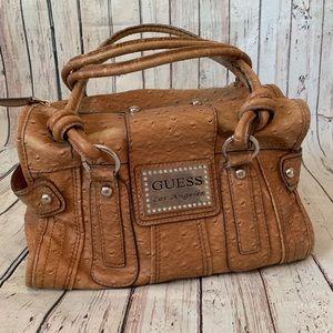 Guess Los Angeles Large Brown Shoulder Bag Purse